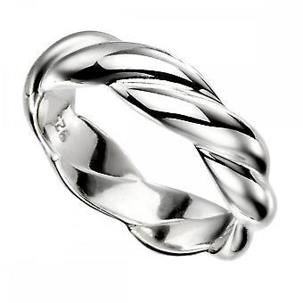 טבעת טוויסט מוצק כסף סטרלינג R3610