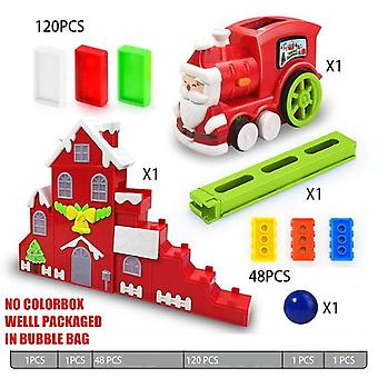 Kids Electric Train Domino, Pink Blue Red Juguetes Vehicle Educational With