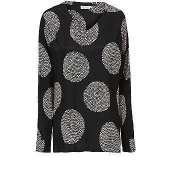 Masai Clothing Baini Black Spot Print Top