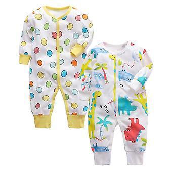 Baby pyjamas nyfødt baby sovende 100% bomull myk 3,6,9,12,18,24 måneder spedbarn
