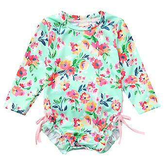 Bikini Cute Swimsuit Sweet Sisters Baby Girl Kids Swimwear- Floral Printed Bikini Swimsuit Beach