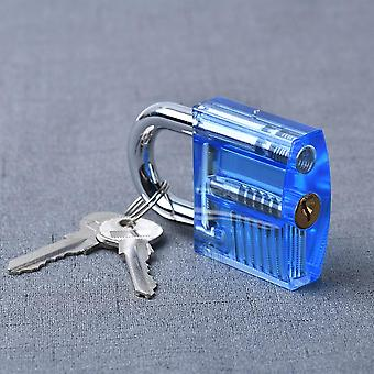 Transparent Visible Pick Cutaway Practice Padlock, Lock With Broken Key