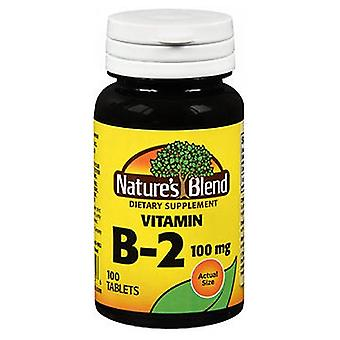 Natures Blend Natures Vitamin B2, 100 mg, 100 tabs