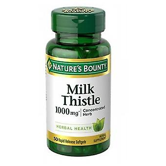 Nature's Bounty Milk Thistle, 1000 mg, 24 X 50 Softgels