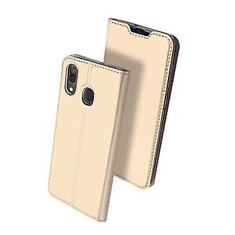 Leather Case for Samsung Galaxy A40 Gold DUX DUCIS-19