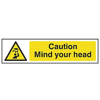 Scan Caution Mind Your Head - PVC 200 x 50mm SCA5110