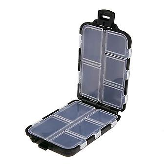 Mini-Angel-Tackle-Box, Fisch ködert Haken Köder, Kunststoff-Lagerhalter, Quadrat