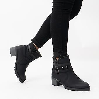 Heavenly Feet Fizz Ladies Ankle Boots Black