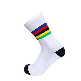Chaussettes de cyclisme arc-en-ciel de nouveau champion