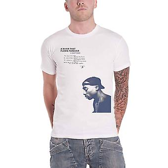 2pac Tupac T Shirt A River that flows forever new Official Mens White