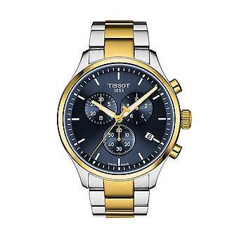 Tissot T1166172204100 T-Sport Chrono XL Sølv og guld rustfrit stål blå dial ur