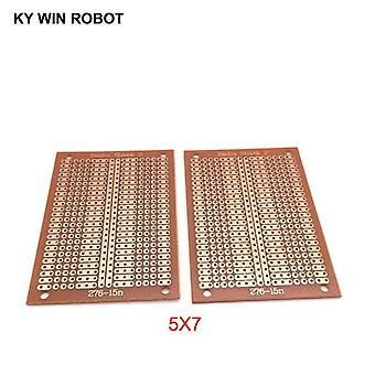 2pcs/lot Diy Prototype Paper Pcb Universal Experiment Matrix Circuit Board Two