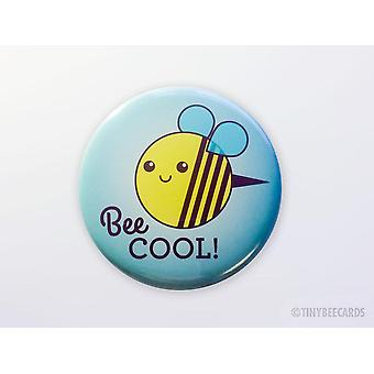 Funny Bee Magnet, Pinback Button, Or Pocket Mirror