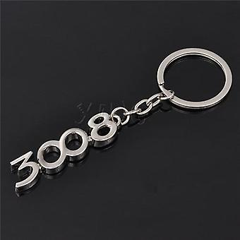 Car Keychains/auto Digital Keyrings/holder Keyring For Peugeot 206 207 307 308