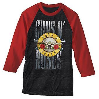 Guns n' roses | stack logo raglan