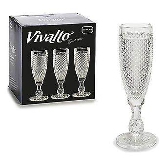 Wineglass Vivalto Crystal (7 x 20 x 7 cm) (185 ml)