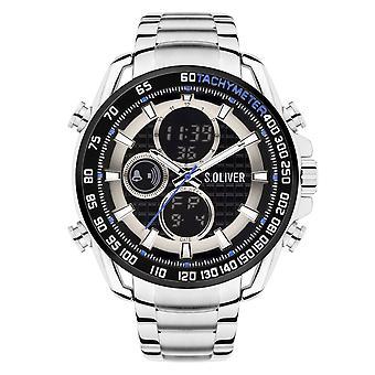 s.Oliver Herren Uhr Armbanduhr Edelstahl SO-4246-MD