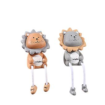 Cute Cartoon Lion Shape Hanging Feet Doll