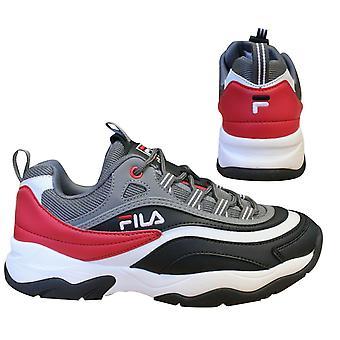 Fila Ray Cb Low Black Grey Lace up Sports Sports Mens المدربين 1010723 13B B15D