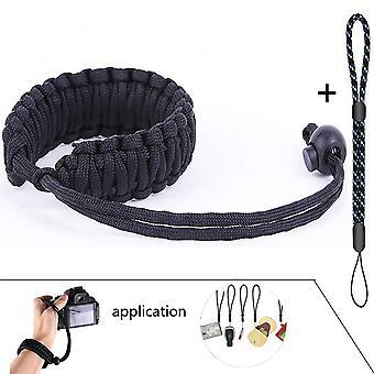 Wisdomstar camera wrist strap,handmade personality outdoor survive paracord bracelet,adjustable came