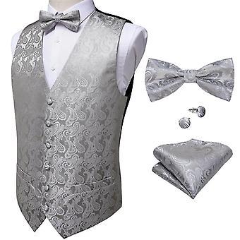 חתונה רשמי עסקים גברים מקטורן וסט חליפה סט עניבה