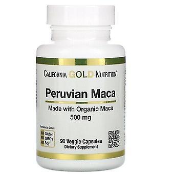 California Gold Nutrition, Peruvian Maca, 500 mg, 90 Veggie Caps