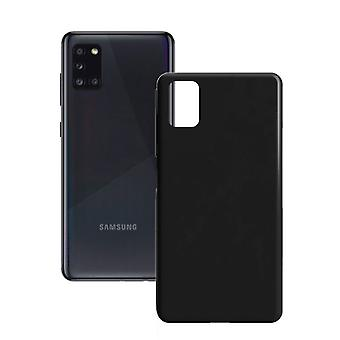 Mobiilikansi Samsung Galaxy A31 Contact Silk TPU Black