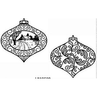 Creative Expressions Mini Christmas Scene & Leafy Bauble Pre Cut Stamps