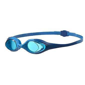 Arena Spider Junior zwemmen Goggle - blauwe Lens - blauw/lichtblauw