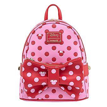 Loungefly Ryggsäck Mimmi Pigg Rosa Rose Bow 2 I 1 ny Officiell Mini Pink