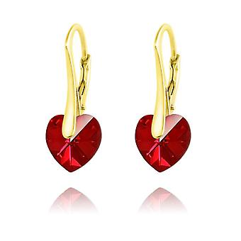 24K gold heart earrings siam