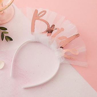 Bride to Be Head Band Rose Gold - Floral Hen Party