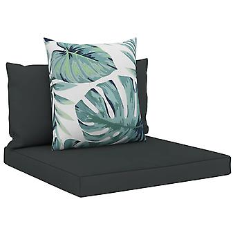 vidaXL pallet sofa pads 3 pcs. anthracite fabric