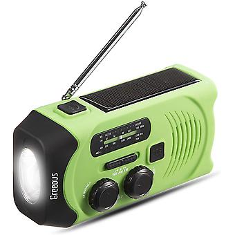 Solar radio Wind up, Waterproof,Emergency Radio with Hand Crank, Solar Powered,2000mAh FM/AM weather
