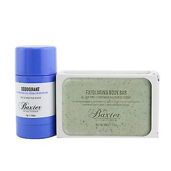Baxter Of California Body Essentials 2-Pieces Full Size Set: Deodorant 75g + Exfoliating Body Bar 198g 2pcs