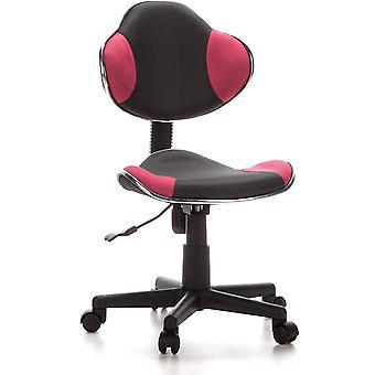hjh OFFICE 670900 Kinderdrehstuhl Brostuhl KIDDY GTI-2 grau pink, artgerechte Ausfhrung fr