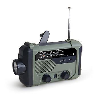 المحمولة صباحا / FM / نوا الطقس راديو مع مصباح يدوي (الأخضر)