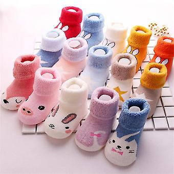 3 Pair Unisex Baby Terry Warm Floor Socks