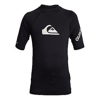 Quiksilver All Time Boys Rash Vest - Black