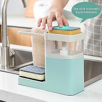 To i en svamp Drain sæbedispenser med svamp pumpe dispenser tør arrangement håndklæde håndklæde bøjle køkken opbevaringsholder