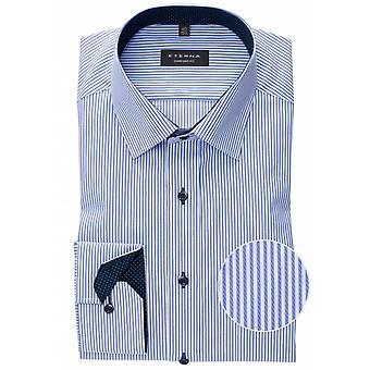 Eterna Mode Eterna Mens Big Size Non Iron Cotton Comfort Fit Formal Stripe Shirt