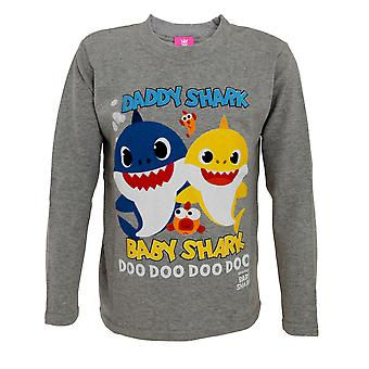 Baby Shark Childrens/Kids Baby Shark And Daddy Shark Top