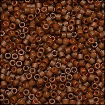ميوكي ديليكا بذور الخرز، 11/0 الحجم، 7.2 غرام، مصبوغ ماتي مبهمة سيينا DB794