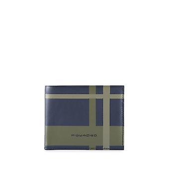 Piquadro - Accesorios - Bolsos - PU3891TAGR-CHECKBLU - Hombres - Azul marino, verde
