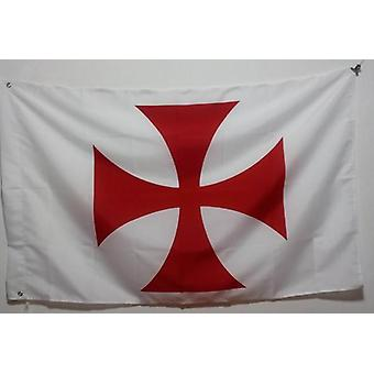 Cruz patée caballeros templarios bandera blanca