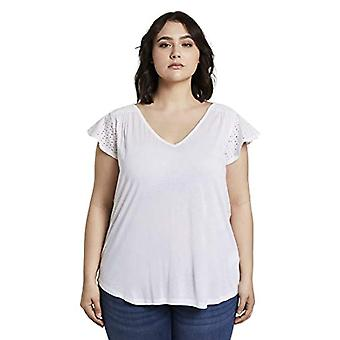 TOM TAILOR MY TRUE ME Capsleeve T-Shirt, 20000/White, 52 Woman