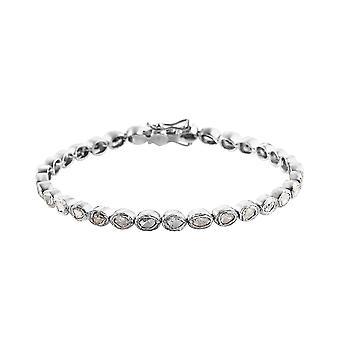 TJC White Diamond Tennis Armbånd Platinum Over Silver 7,25 '' 1,43ct