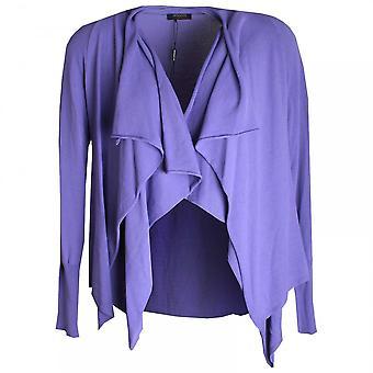 Apanage Long Sleeve Drape Collar Knit Jacket