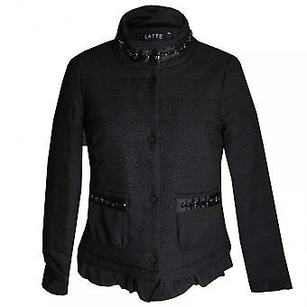 Latte Padded Long Sleeve Jacket