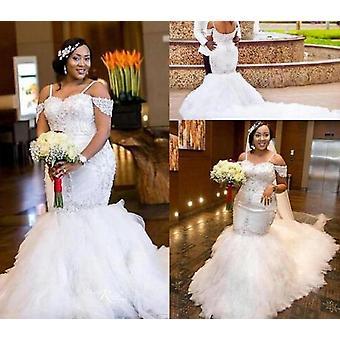 Afrikanske Blonder Vintage Havfrue Brudekjoler